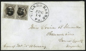 Sale Number 1041, Lot Number 188, On-Cover Domestic Uses by State: North Carolina thru Wisconsin5c Red Brown (1), 5c Red Brown (1)