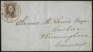 Sale Number 1041, Lot Number 191, On-Cover Domestic Uses by State: North Carolina thru Wisconsin5c Red Brown (1), 5c Red Brown (1)