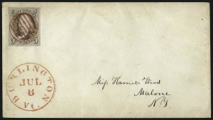 Sale Number 1041, Lot Number 192, On-Cover Domestic Uses by State: North Carolina thru Wisconsin5c Red Brown (1), 5c Red Brown (1)