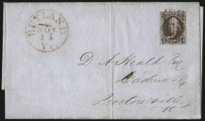 Sale Number 1041, Lot Number 194, On-Cover Domestic Uses by State: North Carolina thru Wisconsin5c Deep Red Brown (1 var), 5c Deep Red Brown (1 var)