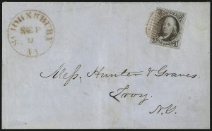 Sale Number 1041, Lot Number 195, On-Cover Domestic Uses by State: North Carolina thru Wisconsin5c Grayish Brown (1a), 5c Grayish Brown (1a)