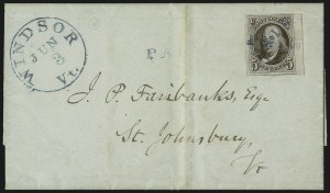 Sale Number 1041, Lot Number 196, On-Cover Domestic Uses by State: North Carolina thru Wisconsin5c Red Brown (1), 5c Red Brown (1)
