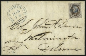 Sale Number 1041, Lot Number 197, On-Cover Domestic Uses by State: North Carolina thru Wisconsin5c Red Brown (1), 5c Red Brown (1)