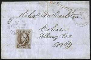 Sale Number 1041, Lot Number 198, On-Cover Domestic Uses by State: North Carolina thru Wisconsin5c Red Brown (1), 5c Red Brown (1)