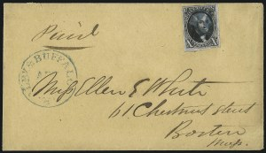 Sale Number 1041, Lot Number 212, Railroad Route Agents10c Black, Double Transfer Ty. B (2-B), 10c Black, Double Transfer Ty. B (2-B)