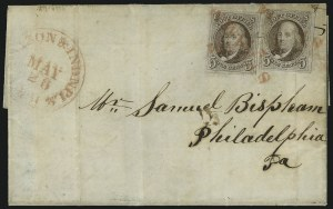 Sale Number 1041, Lot Number 220, Railroad Route Agents5c Red Brown (1), 5c Red Brown (1)