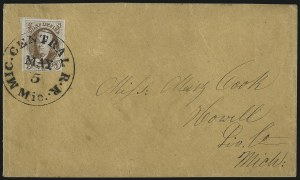 Sale Number 1041, Lot Number 222, Railroad Route Agents5c Red Brown (1), 5c Red Brown (1)