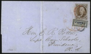 Sale Number 1041, Lot Number 244, Carriers and Locals Used with 1847 Issue5c Red Brown (1), 5c Red Brown (1)