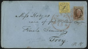 Sale Number 1041, Lot Number 247, Carriers and Locals Used with 1847 Issue5c Red Brown (1), 5c Red Brown (1)