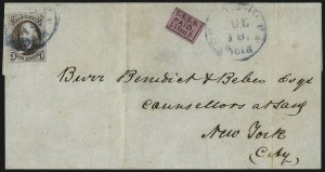 Sale Number 1041, Lot Number 248, Carriers and Locals Used with 1847 Issue5c Dark Brown (1a), 5c Dark Brown (1a)