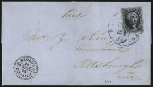 Sale Number 1041, Lot Number 251, Carriers and Locals Used with 1847 Issue10c Black (2), 10c Black (2)