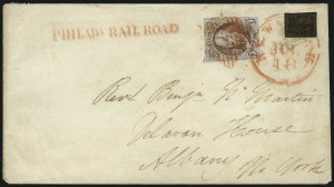 Sale Number 1041, Lot Number 255, Carriers and Locals Used with 1847 Issue5c Red Brown (1), 5c Red Brown (1)