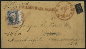 Sale Number 1041, Lot Number 259, Carriers and Locals Used with 1847 Issue10c Black (2), 10c Black (2)