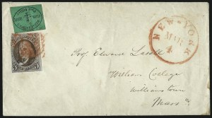 Sale Number 1041, Lot Number 263, Carriers and Locals Used with 1847 Issue5c Red Brown (1), 5c Red Brown (1)