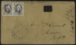 Sale Number 1041, Lot Number 265, Carriers and Locals Used with 1847 Issue5c Red Brown (1), 5c Red Brown (1)
