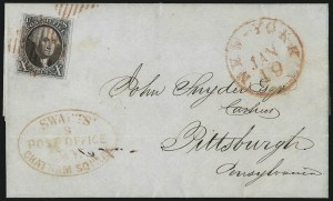 Sale Number 1041, Lot Number 266, Carriers and Locals Used with 1847 Issue10c Black (2), 10c Black (2)