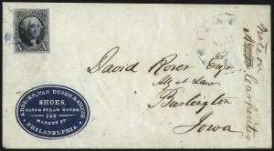 Sale Number 1041, Lot Number 269, Advertising Covers and Valentines10c Black (2), 10c Black (2)