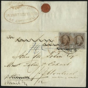 Sale Number 1041, Lot Number 284, Pre-Treaty Mail and 3p Ferriage Rate to Canada and British America5c Red Brown (1), 5c Red Brown (1)