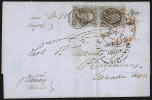 Sale Number 1041, Lot Number 285, Pre-Treaty Mail and 3p Ferriage Rate to Canada and British America5c Red Brown (1), 5c Red Brown (1)