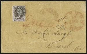 Sale Number 1041, Lot Number 292, Treaty-Rate Mail to and from Canada5c Red Brown (1), 5c Red Brown (1)