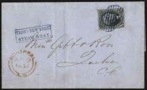Sale Number 1041, Lot Number 293, Treaty-Rate Mail to and from Canada10c Black (2), 10c Black (2)