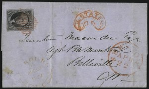Sale Number 1041, Lot Number 294, Treaty-Rate Mail to and from Canada10c Black (2), 10c Black (2)