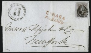 Sale Number 1041, Lot Number 296, Treaty-Rate Mail to and from Canada5c Red Brown (1), 5c Red Brown (1)