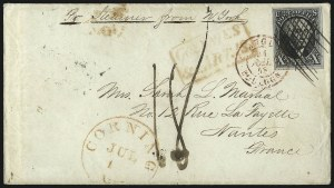 Sale Number 1041, Lot Number 305, Mail to France, Italy, Germany, Silesia, Prague, Belgium, Holland10c Black (2), 10c Black (2)