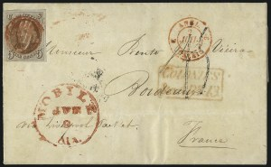 Sale Number 1041, Lot Number 307, Mail to France, Italy, Germany, Silesia, Prague, Belgium, Holland5c Red Brown (1), 5c Red Brown (1)