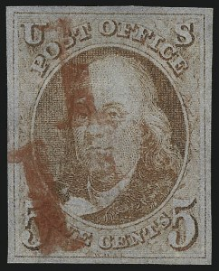 Sale Number 1041, Lot Number 31, Off-Cover 5-Cent Plate Varieties and Shades5c Brown Orange (1d), 5c Brown Orange (1d)