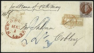 Sale Number 1041, Lot Number 312, Mail to France, Italy, Germany, Silesia, Prague, Belgium, Holland5c Red Brown (1), 5c Red Brown (1)