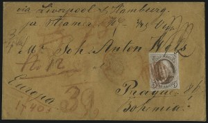 Sale Number 1041, Lot Number 316, Mail to France, Italy, Germany, Silesia, Prague, Belgium, Holland5c Red Brown (1), 5c Red Brown (1)