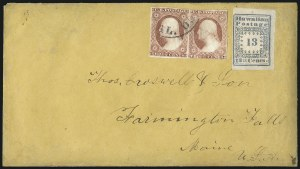 "Sale Number 1041, Lot Number 349, Hawaiian Mails incl. 13c Missionary and to PersiaHawaii, 1851, 13c Blue, ""Hawaiian Postage"" (3), Hawaii, 1851, 13c Blue, ""Hawaiian Postage"" (3)"