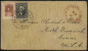 Sale Number 1041, Lot Number 352, Hawaiian Mails incl. 13c Missionary and to PersiaHawaii, 1857, 5c on 13c Dark Red (7), Hawaii, 1857, 5c on 13c Dark Red (7)