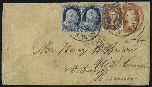 Sale Number 1041, Lot Number 358, Foreign Mails5c Red Brown (12), 5c Red Brown (12)