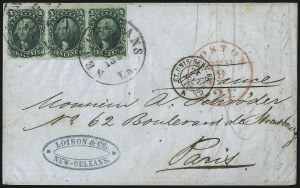 Sale Number 1041, Lot Number 367, Foreign Mails10c Green, Ty. I (13), 10c Green, Ty. I (13)