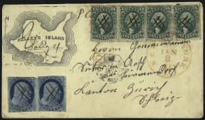 Sale Number 1041, Lot Number 368, Foreign Mails1c Blue, Ty. II (7), 1c Blue, Ty. II (7)