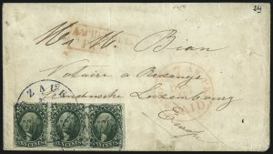 Sale Number 1041, Lot Number 371, Foreign Mails10c Green, Ty. II-II-IV (14-14-16), 10c Green, Ty. II-II-IV (14-14-16)
