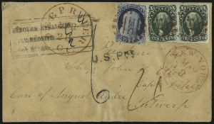 Sale Number 1041, Lot Number 372, Foreign Mails10c Green, Ty. II (14), 10c Green, Ty. II (14)