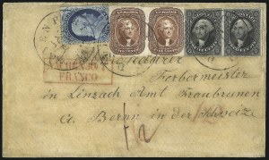 Sale Number 1041, Lot Number 374, Foreign Mails5c Red Brown (12), 5c Red Brown (12)