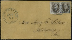 Sale Number 1041, Lot Number 93, On-Cover Domestic Uses by State: Alabama thru Delaware5c Red Brown (1), 5c Red Brown (1)