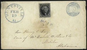 Sale Number 1041, Lot Number 94, On-Cover Domestic Uses by State: Alabama thru Delaware10c Black (2), 10c Black (2)