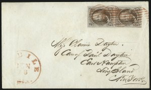 Sale Number 1041, Lot Number 96, On-Cover Domestic Uses by State: Alabama thru Delaware5c Red Brown (1), 5c Red Brown (1)