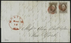 Sale Number 1041, Lot Number 98, On-Cover Domestic Uses by State: Alabama thru Delaware5c Red Brown (1), 5c Red Brown (1)