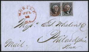 Sale Number 1041, Lot Number 99, On-Cover Domestic Uses by State: Alabama thru Delaware10c Black (2), 10c Black (2)