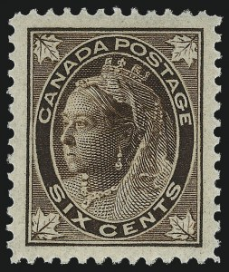 Sale Number 1042, Lot Number 3231, CanadaCANADA, 1897, 6c Brown Maple Leaf (71), CANADA, 1897, 6c Brown Maple Leaf (71)