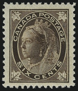 Sale Number 1042, Lot Number 3233, CanadaCANADA, 1897, 6c Brown Maple Leaf (71), CANADA, 1897, 6c Brown Maple Leaf (71)