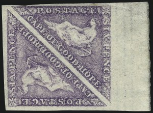 Sale Number 1042, Lot Number 3406, Cape of Good HopeCAPE OF GOOD HOPE, 1863, 6p Purple (14; SG 20), CAPE OF GOOD HOPE, 1863, 6p Purple (14; SG 20)