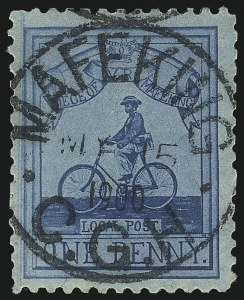 Sale Number 1042, Lot Number 3415, MafekingCAPE OF GOOD HOPE, Mafeking, 1900, 1p Pale Blue on Blue Laid, Major Goodyear (178; SG 17), CAPE OF GOOD HOPE, Mafeking, 1900, 1p Pale Blue on Blue Laid, Major Goodyear (178; SG 17)
