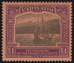 Sale Number 1042, Lot Number 3578, St. Kitts-NevisST. KITTS-NEVIS, 1923, -1/2p-£1 Tercentenary (52-64; SG 48-60), ST. KITTS-NEVIS, 1923, -1/2p-£1 Tercentenary (52-64; SG 48-60)